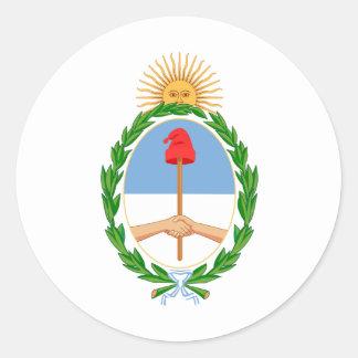 Argentina Coat of arm AR Classic Round Sticker