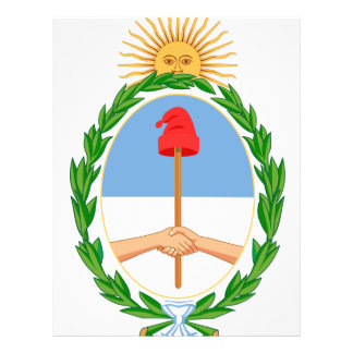 Argentina coat of arms flyer