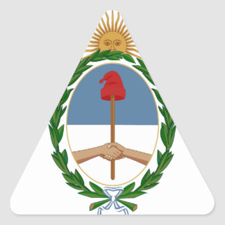 Argentina Coat of Arms Triangle Sticker