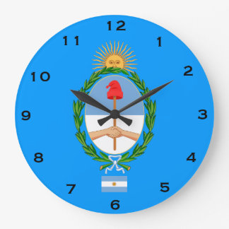 Argentina* Coat of Arms Wall Clock