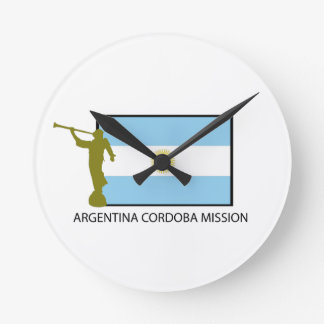 ARGENTINA CORDOBA MISSION LDS ROUND WALL CLOCK