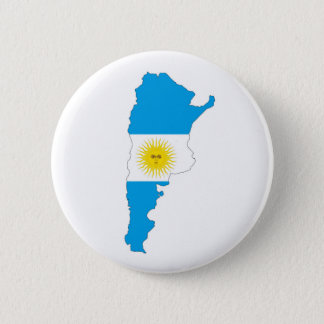 argentina country flag map shape symbol button