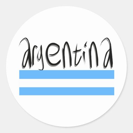 Argentina design! classic round sticker