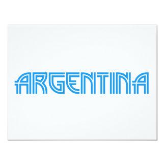Argentina design! 4.25x5.5 paper invitation card