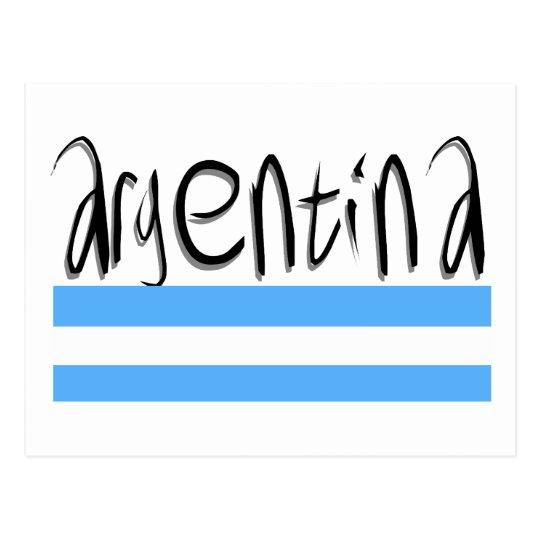 Argentina design! postcard
