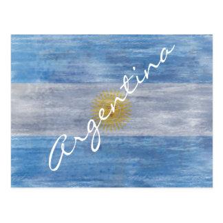 Argentina distressed Argentinian flag Postcard