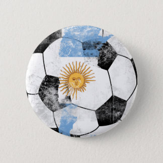 Argentina Distressed Soccer Button