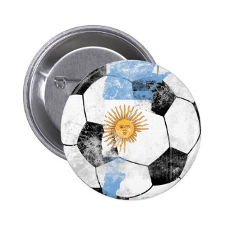 Argentina Distressed Soccer Pin