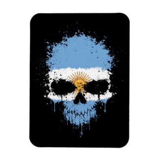 Argentina Dripping Splatter Skull Flexible Magnet
