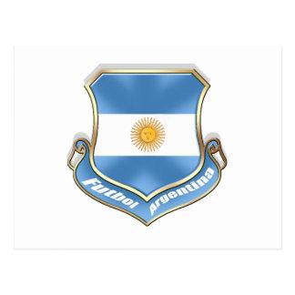 Argentina fans soccer futbol shield emblem badge postcard