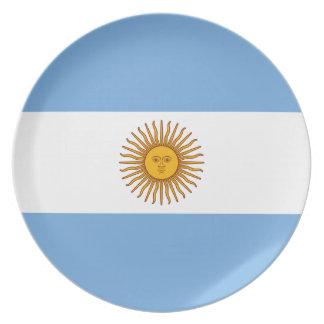 Argentina Flag - Bandera Argentina Melamine Plate