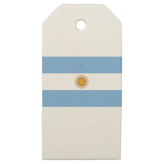 Argentina Flag - Bandera Argentina Wooden Gift Tags