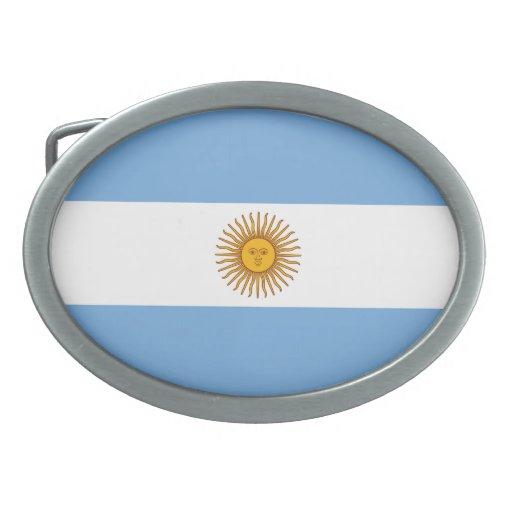 Argentina Flag Belt Buckle