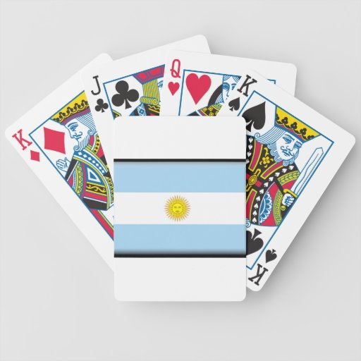 Argentina Flag Bicycle Playing Cards