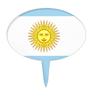 Argentina Flag Cake Toppers