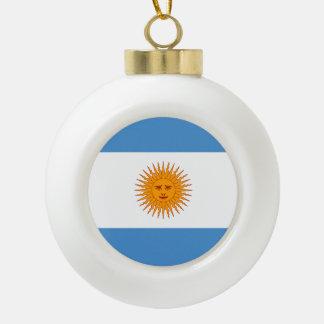 Argentina Flag Ceramic Ball Christmas Ornament