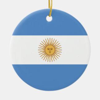 Argentina Flag Ceramic Ornament