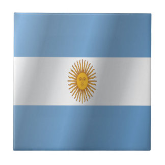 Argentina flag ceramic tile