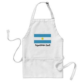 Argentina flag chef apron