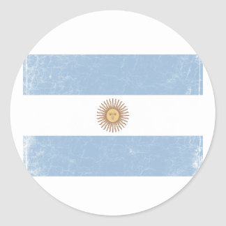Argentina Flag Classic Round Sticker