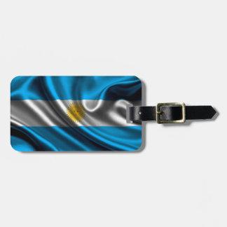 Argentina Flag Fabric Bag Tag