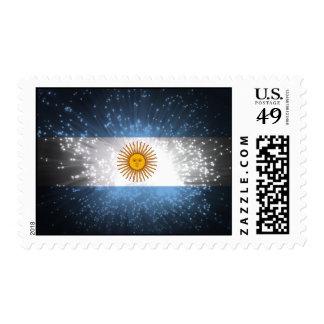 Argentina Flag Firework Stamps