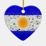 Argentina Flag glitter ornament
