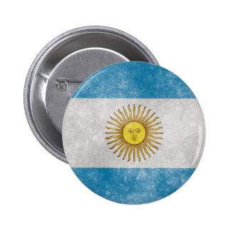 Argentina Flag Grunge Style Button