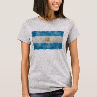 Argentina Flag Grunge Style Tee Shirt