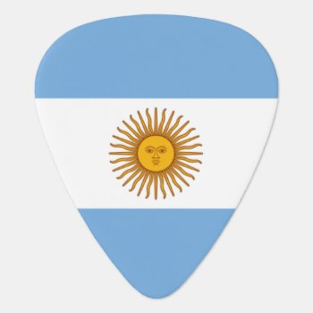 Argentina Flag Guitar Pick For Argentine Musicians by iprint at Zazzle