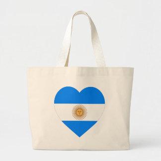 Argentina Flag Heart Bags