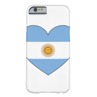 Argentina Flag Heart Barely There iPhone 6 Case