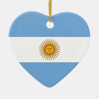 Argentina Flag Heart Ornament
