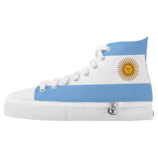 Argentina Flag High Top Shoes