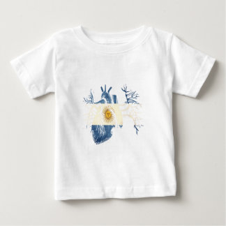 Argentina Flag in Real heart Baby T-Shirt