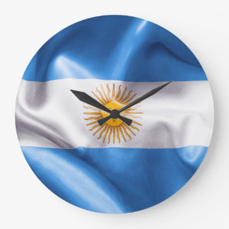 Argentina Flag Large Clock