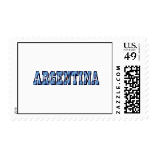 Argentina flag logo soccer ball gifts and futbol stamps
