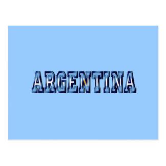 Argentina flag logo soccer ball gifts and futbol postcard