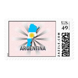 Argentina Flag Map 2.0 Postage Stamps