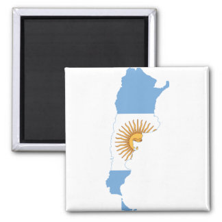 Argentina Flag map AR 2 Inch Square Magnet
