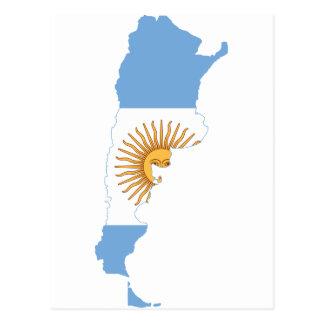 Argentina Flag map AR Postcard