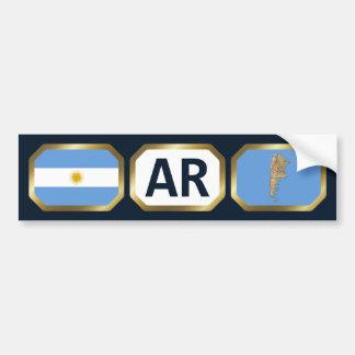 Argentina Flag Map Code Bumper Sticker Car Bumper Sticker