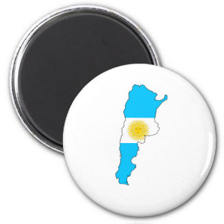 Argentina Flag Map full size Magnet