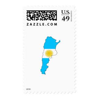 Argentina flag map postage