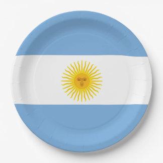 Argentina Flag Paper Plate