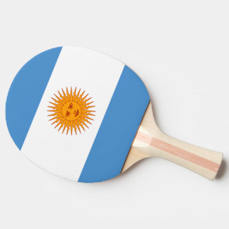 Argentina Flag Ping-Pong Paddle