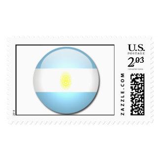 argentina flag postage