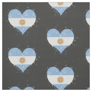 Argentina Flag Shining Beautiful Fabric