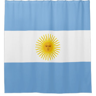 Flag Of Argentina Shower Curtains | Zazzle