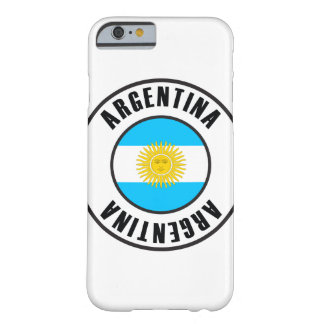 Argentina Flag Simple Dark Barely There iPhone 6 Case